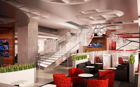 Regus's business lounge in New York