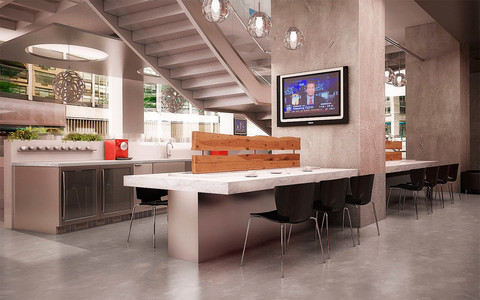 Another look at the New York office of Regus, which offers flex space to more than a million people a day worldwide