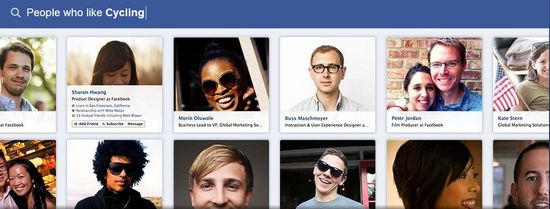 Facebook Graph Search B - People who like Cycling