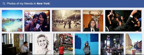 Facebook Graph Search F - Photos of my friends in New York