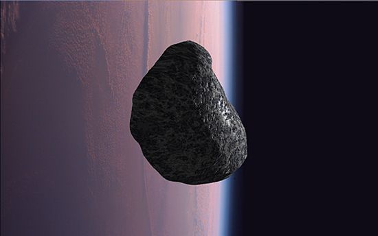 NASA artist concept of asteroid 2012 DA14