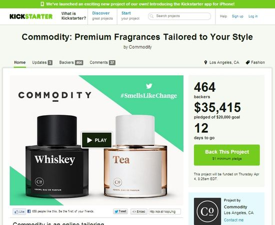 Commodity's KickStarter page