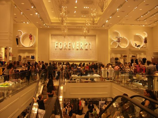 Forever 21's grand opening on June 25, 2010 at their new store located in Times Square, New York City