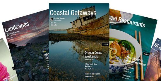 Sample Flipboar magazine covers