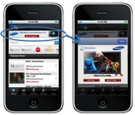 Mobile ads on smartphones