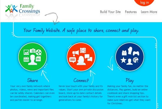 FamilyCrossings.com homepage