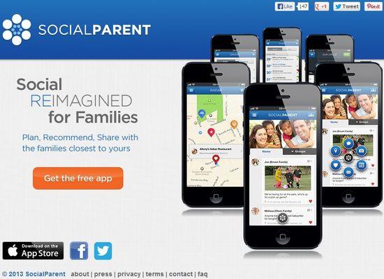 SocialParent.com homepage