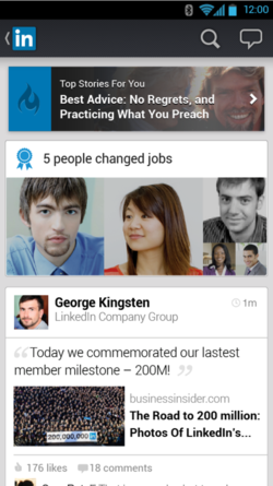 New LinkedIn mobile app for iOS and Android users 2