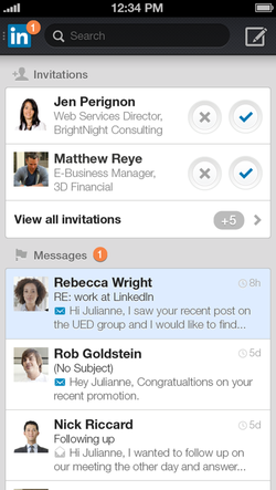New LinkedIn mobile app for iOS and Android users 4