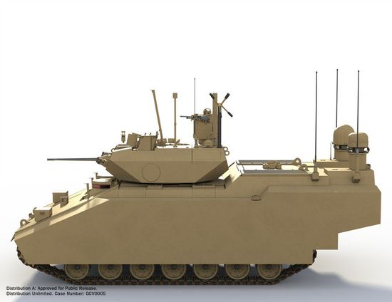 The GVC Fighting Infantry Vehicle's electric motor will also provide faster acceleration than the M2 Bradley Fighting Vehicles
