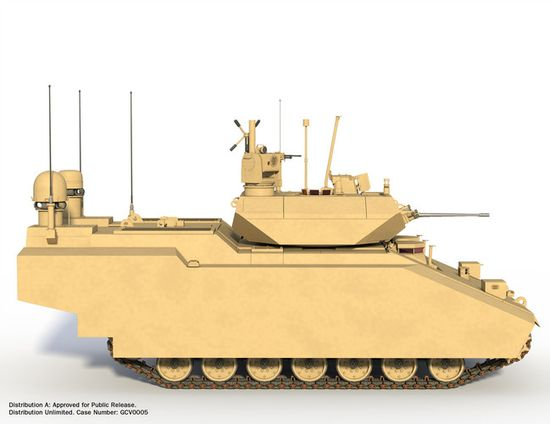 The GCV Fighting Infantry Vehicle will have a 40-year lifespan and can effectively transport troops to the battlefield while providing support fire