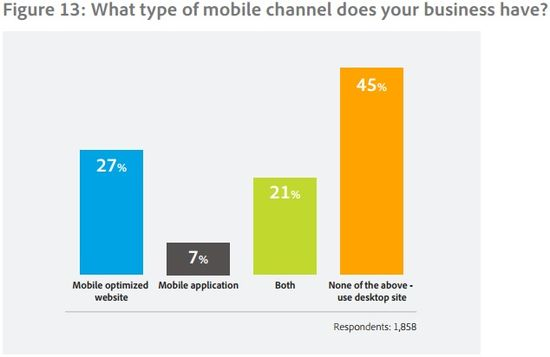 What type of mobile channel does your business have - Adobe