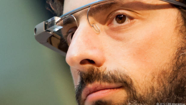 Google Co-Founder Sergey Brin wears a pair of Google Glass AR glasses