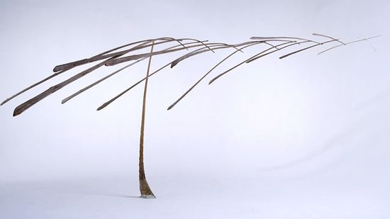 Kinetic structure balanced on a feather 7