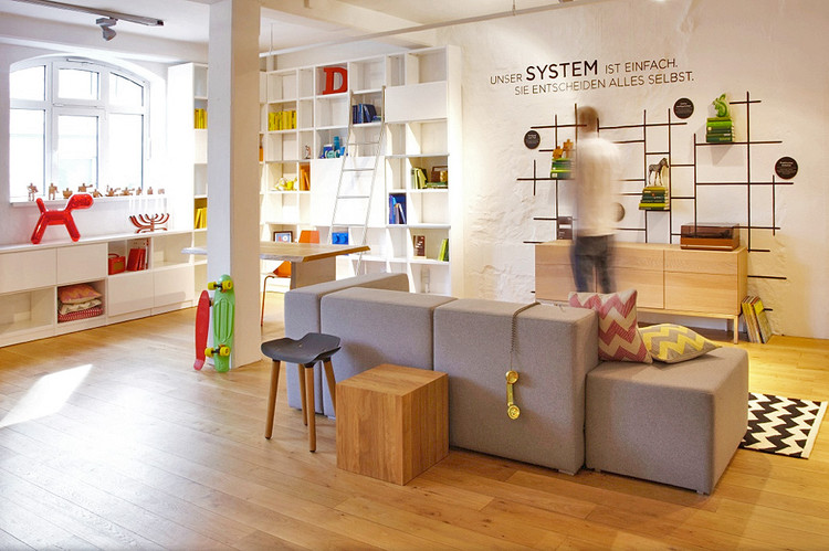 FAB - The new Fab showroom in Hamburg, Germany, is a former showroom of German furniture maker Massivkonzept, which the company just acquired