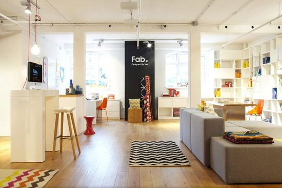 Interior view of Fab's new retail showroom store located in Hamburg, Germany