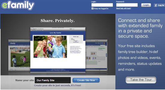 EFamily.com homepage