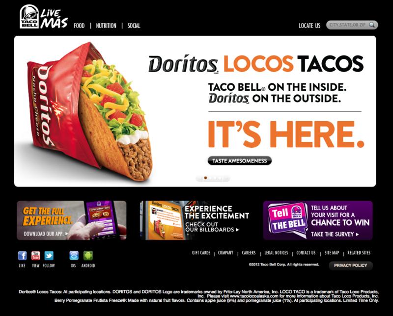 Taco Bell's Doritos Locos Taco product launch announcement
