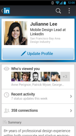 New LinkedIn mobile app for iOS and Android users 5