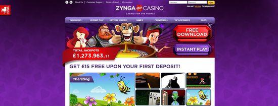 Zynga Casino Plus website homepage