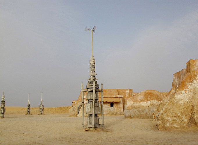 Di Martino calls the sets 'strange archeological sites,' fortuitously preserved by sand and a hot, arid climate