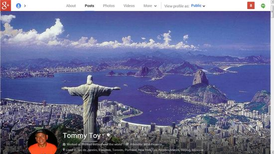Tommy Toy's Google+ profile page