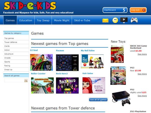 Skid-E-Kids website