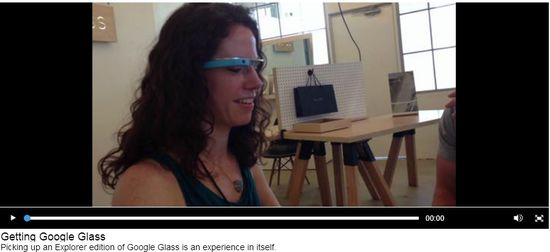 Chicago writer Margo Rowder was one of the few selected to try Google Glass, and here she is at Google HQ trying them out for the first time