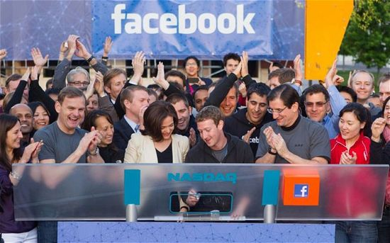 Facebook COO Sheryl Sandberg and CEO and co-founder Mark Zuckerberg celebrate Facebook IPO back on May 18, 2012