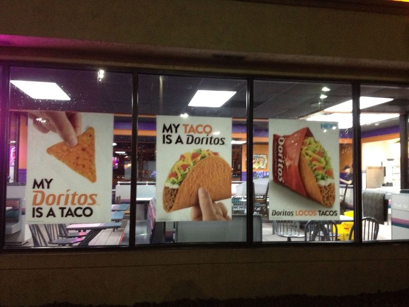 Taco Bell's Doritos Locos Taco product launch posters