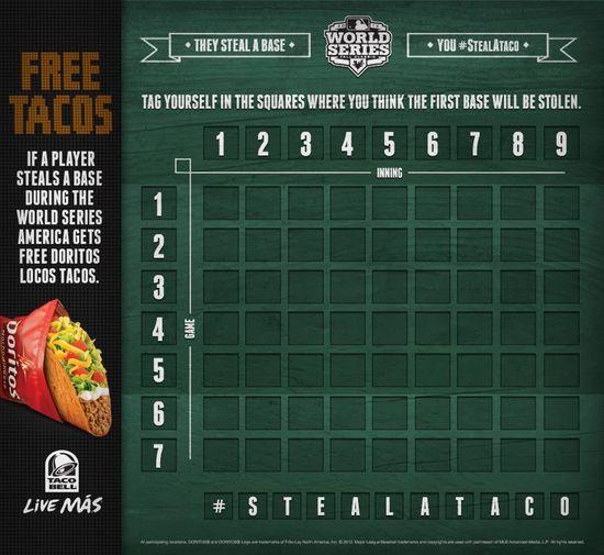 Taco Bell's Doritos Locos Taco Major League Baseball Free Taco Contest