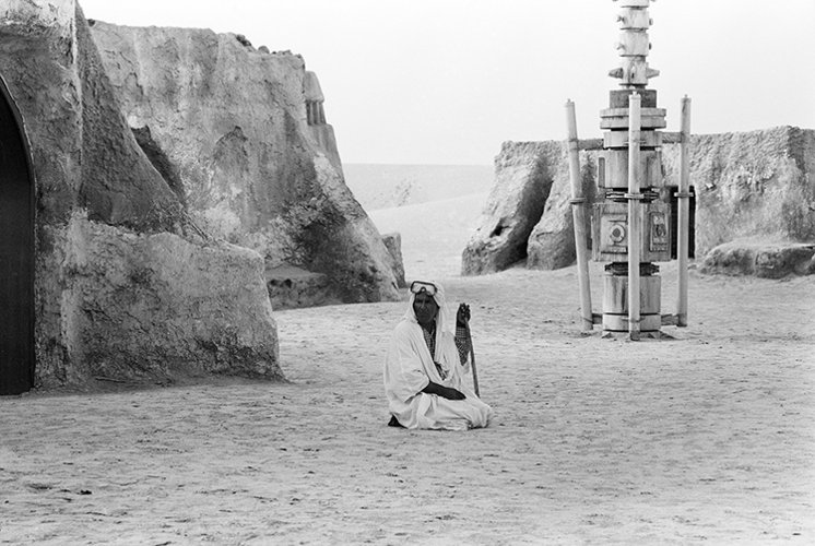 An image from Rä di Martino's 'Every World's A Stage' set among the remnants of films sets used in Star Wars