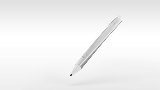 The pen has a pressure-sensitive tip, a button to reveal onscreen menus and a glowing tip to convey modal information (designating if you're drawing with any particular settings), and that's it