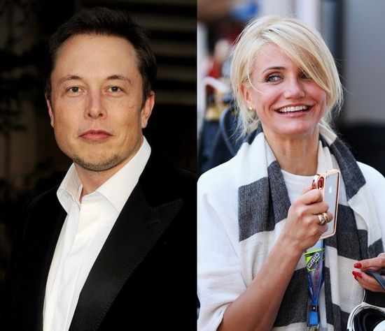 Tesla Motors CEO and founder Elon Musk (left) and Hollywood star Cameron Diaz (right) are rumored to be romantically linked