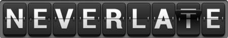 NeverLate logo