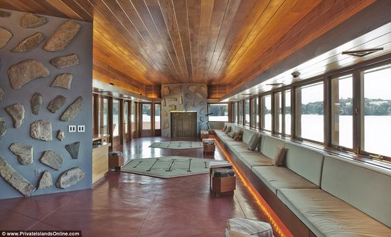 Petra Island includes a 5,000 sq foot Frank Lloyd Wright designed home 6