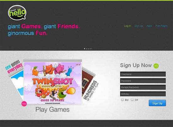 GiantHELLO website