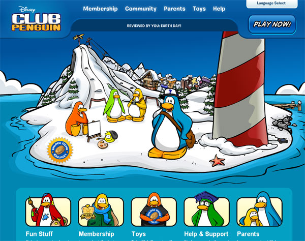 Disney Club Penguin website