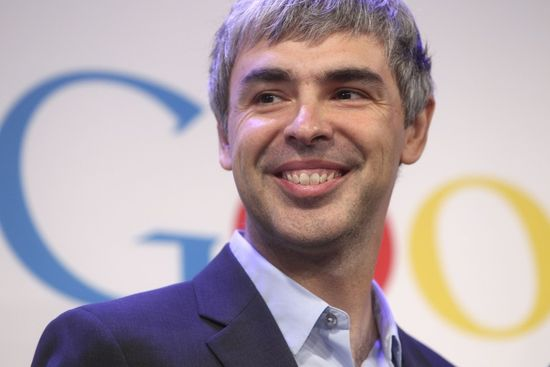Google CEO and co-founder Larry Page