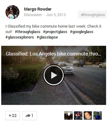 Margo Rowder post on Google+ 3