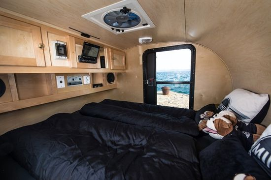 The Mini Cowley Caravan interior has adequate room to house two people comfortably