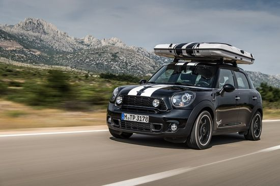 The roof top camper of the Mini Countryman All4Camp looks very small when stored away, but provides more than enough room for two people  Photo by BMW Group