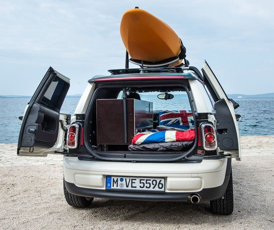 The Mini Clubman Camper fits snuggly inside your Mini Cooper so it is always ready to go anywhere