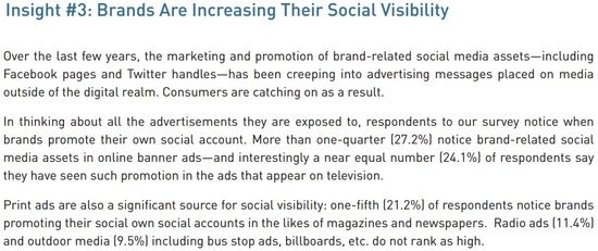 Insight #3 - Brands Are Increasing Their Social Visibility - Burst Media - April 2013