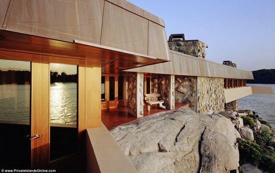 Petra Island includes a 5,000 sq foot Frank Lloyd Wright designed home 5