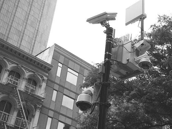 Surveillance systems like this one are located in cities throughout the U.S.