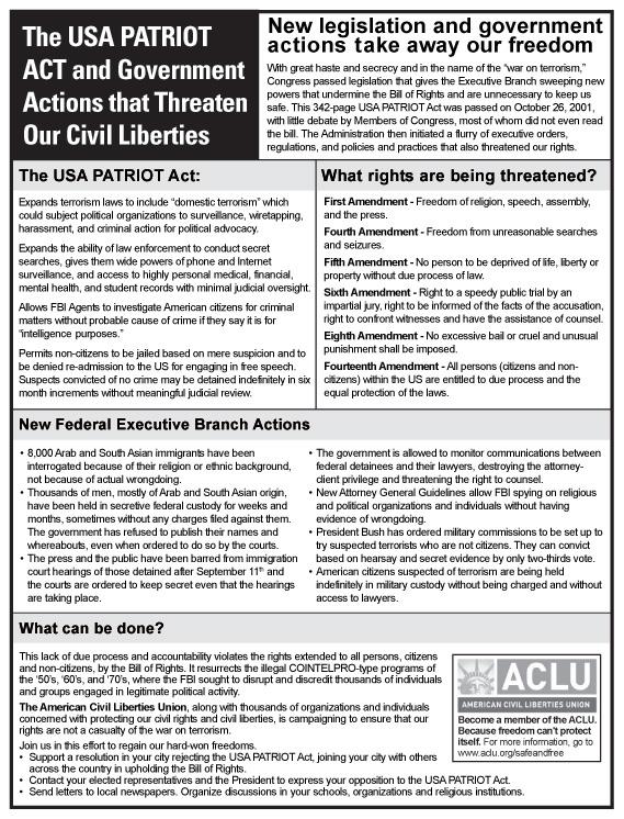 The american civil liberties union aclu essay | Coursework Service ...
