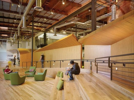 A look at the sleek interior of Google's Venice Beach, California