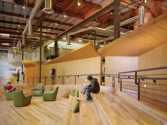 A look at the sleek interior of Google's Venice Beach, California