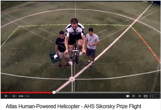 Atlas Human-Powered Helicopter - AHS Sikorsky Prize Flight